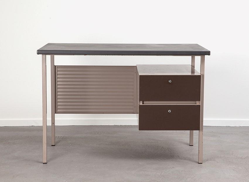 SOLD A.R. Cordemeyer Desk 3803 Brown Gispen 1959