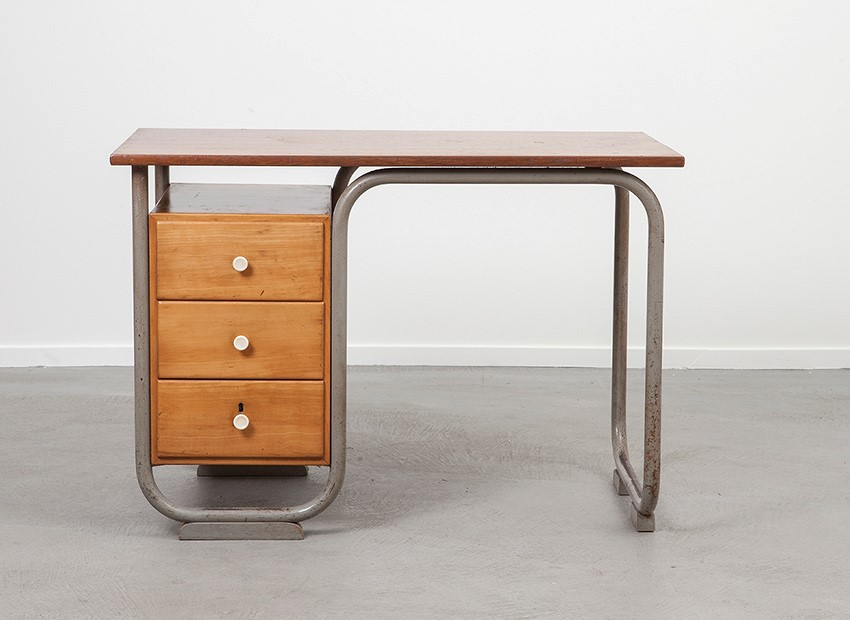 SOLD Tubular Desk Bauhaus Style 50s