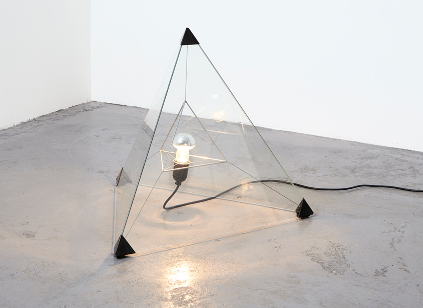 Frans van Nieuwenborg Tetrahedron Table/Floor Lamp Indoor 1979