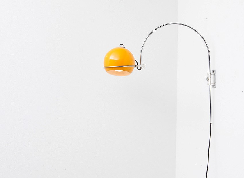 SOLD Gepo Arc Wall Lamp Dutch 60s