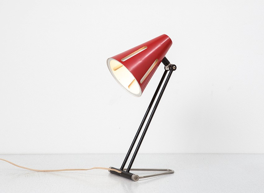 SOLD H.Th.J.A. Busquet Table Lamp Sun Series Hala 1950s