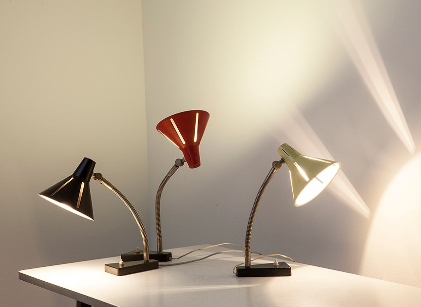 H.Th.J.A. Busquet Table Lamps Sun Series Hala 50s 3