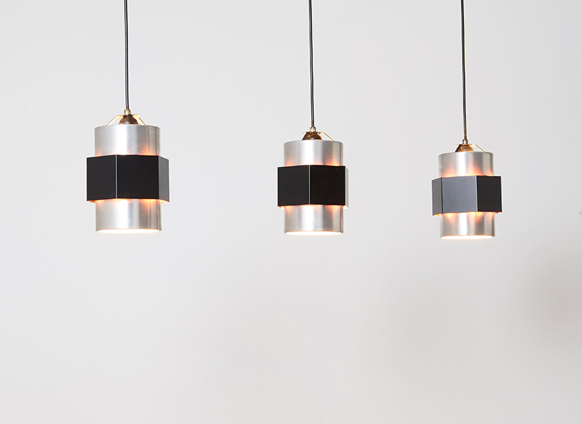 SOLD J. Hoogervorst Tri-light Pendant 4113 Anvia 1950s