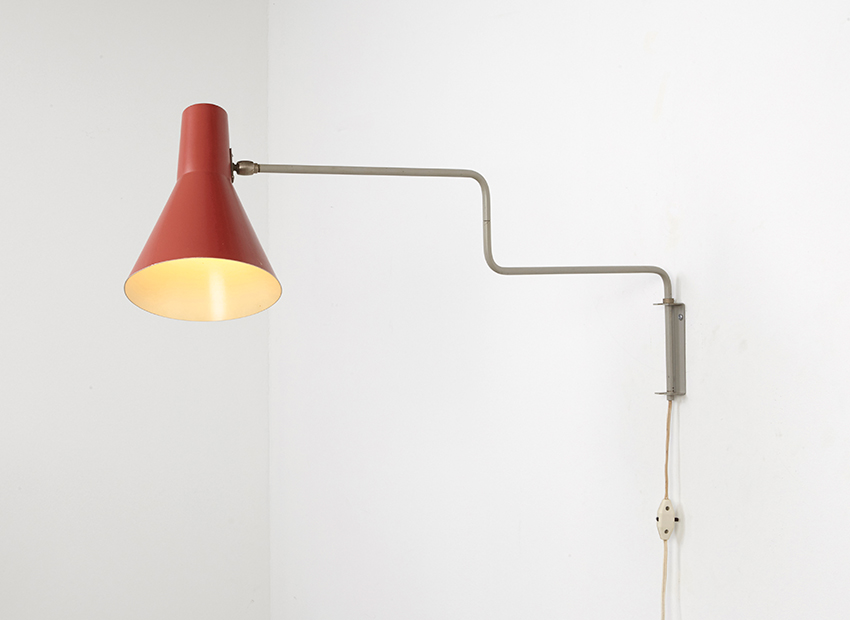 SOLD J.J.M. Hoogervorst Elbow Wall Lamp Anvia 1958