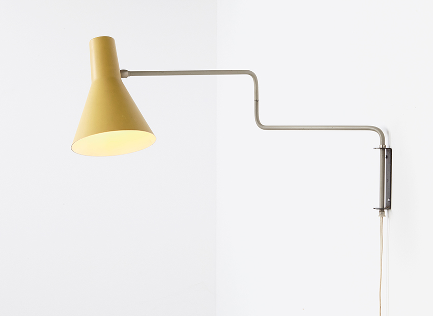SOLD J.Hoogervorst Paperclip Wall Lamp Anvia 1958