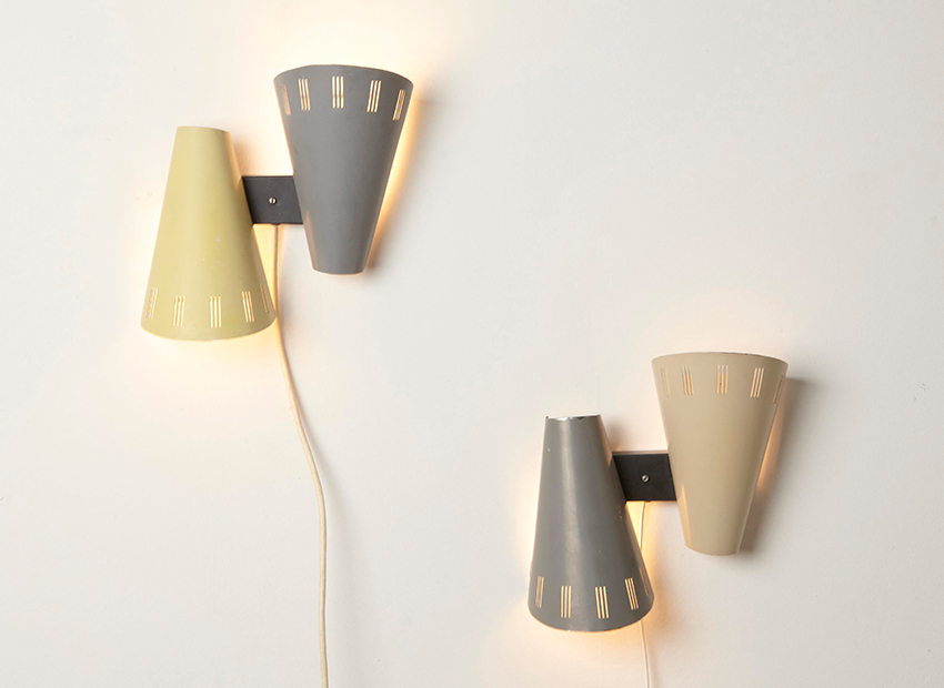 SOLD Louis Kalff A Pair of NX27 Wall Lamps Philips 1950s