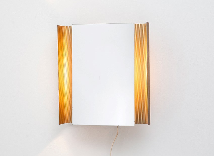 SOLD Mathieu Mategot Attrib. Mirror Wall Lamp Artimeta 50s