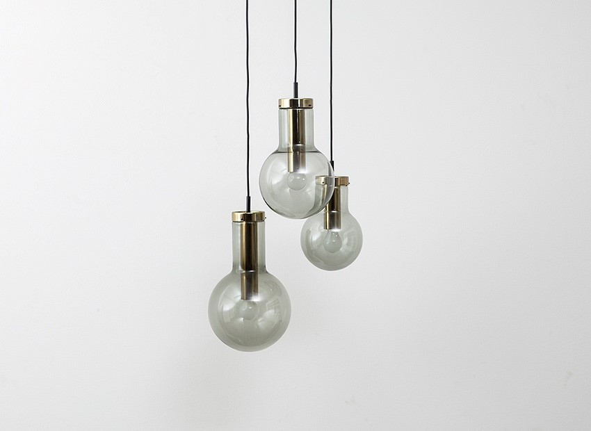 Raak Bulb Chandelier Dutch 60s 2