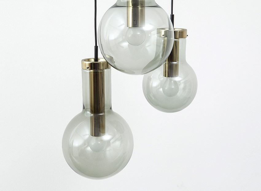 Raak Bulb Chandelier Dutch 60s 3