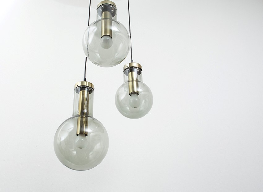 Raak Bulb Chandelier Dutch 60s 5