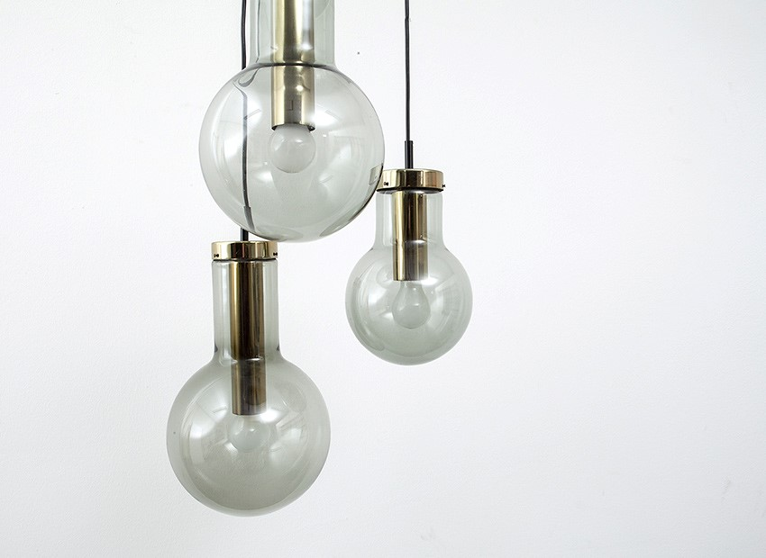 Raak Bulb Chandelier Dutch 60s