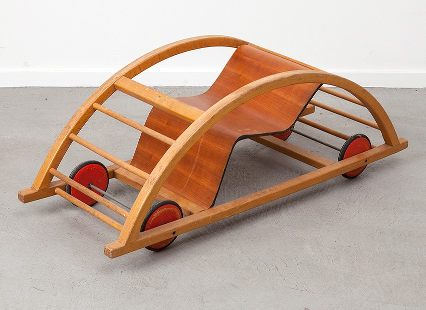 Hans Brockhage Kids Car Rocking Chair Germany 50s 4