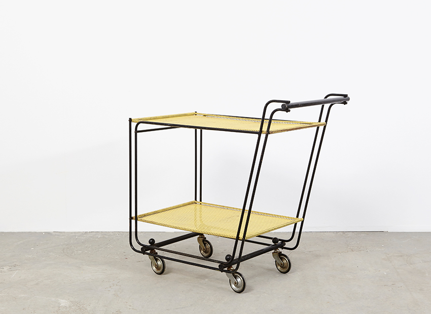 SOLD Tea Trolley in the style of Pilastro 50s