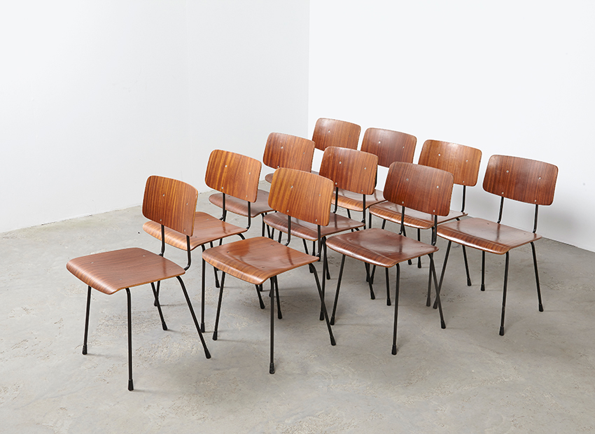 A.R.Cordemeyer 10x PlywoodChairs Gispen 1