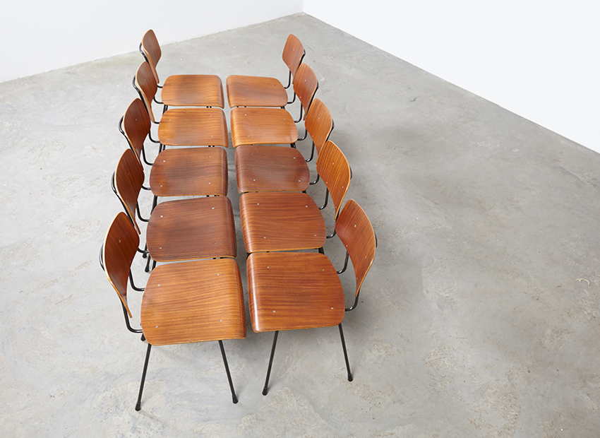 A.R.Cordemeyer 10x PlywoodChairs Gispen 16