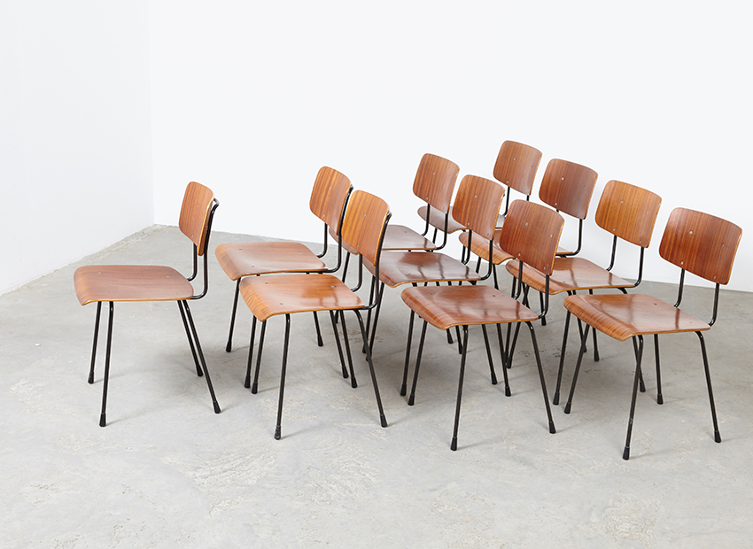 A.R.Cordemeyer 10x PlywoodChairs Gispen 2