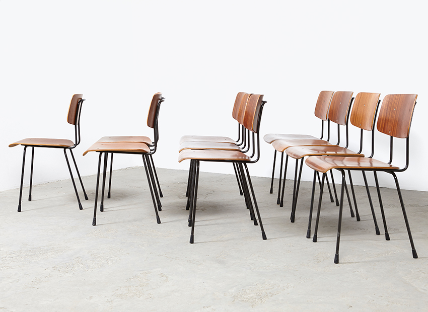 A.R.Cordemeyer 10x PlywoodChairs Gispen 3