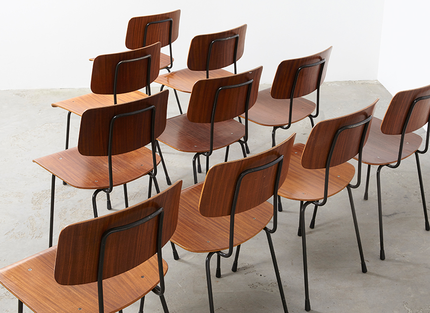 A.R.Cordemeyer 10x PlywoodChairs Gispen 5