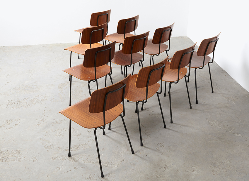 A.R.Cordemeyer 10x PlywoodChairs Gispen 6