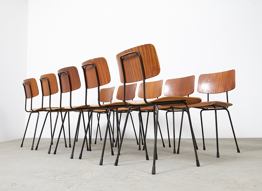 A.R.Cordemeyer 10x PlywoodChairs Gispen 7