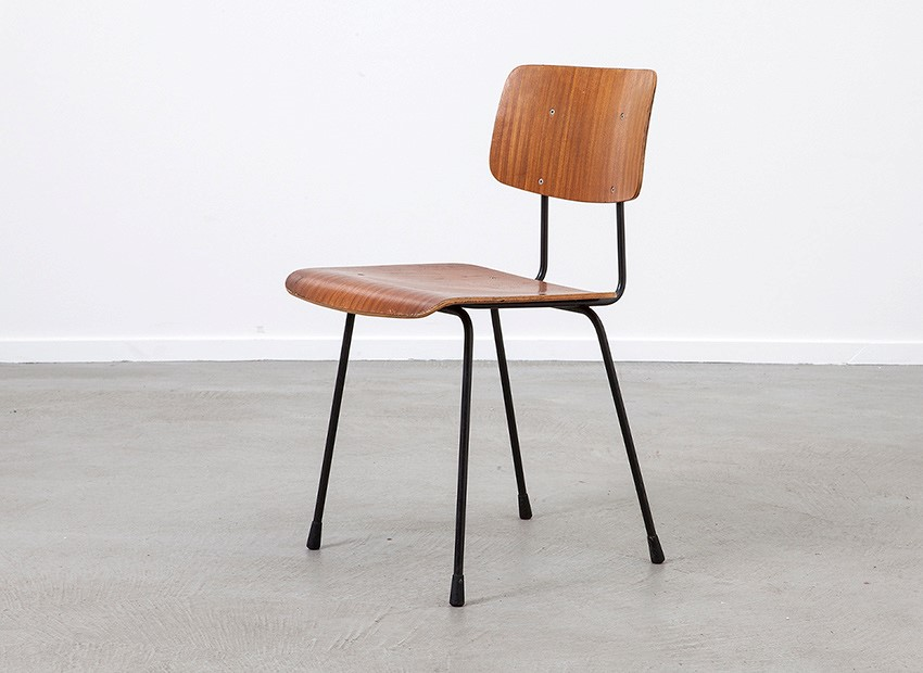 A.R. Cordemeyer 6 X Plywood Chairs Gispen 1959 4