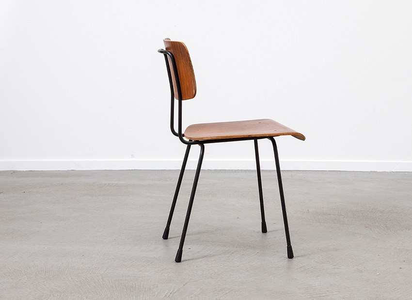 A.R. Cordemeyer 6 X Plywood Chairs Gispen 1959 5