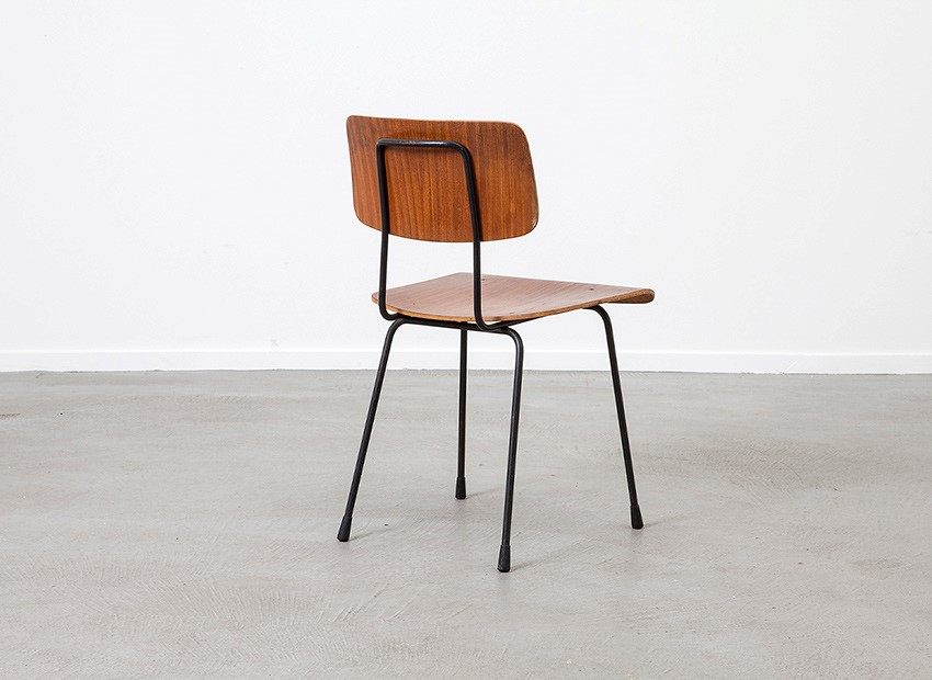 A.R. Cordemeyer 6 X Plywood Chairs Gispen 1959 6