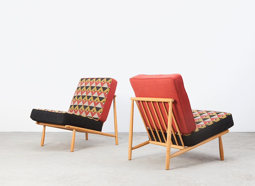 Alf Svensson A Pair of Lounge Chairs Dux Sweden 50s
