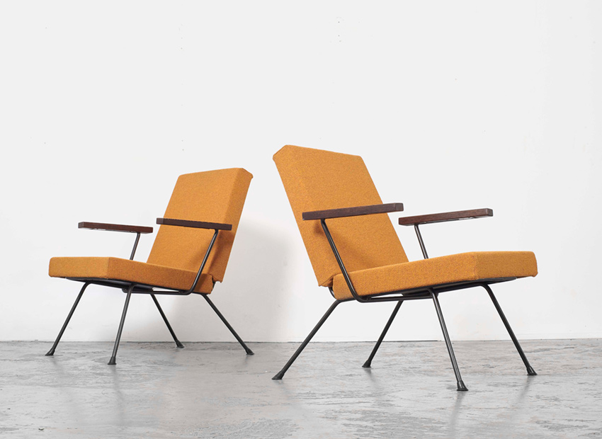 Andre Cordemeijer Set of 2 Lounge Chairs 1409 Gispen 1959