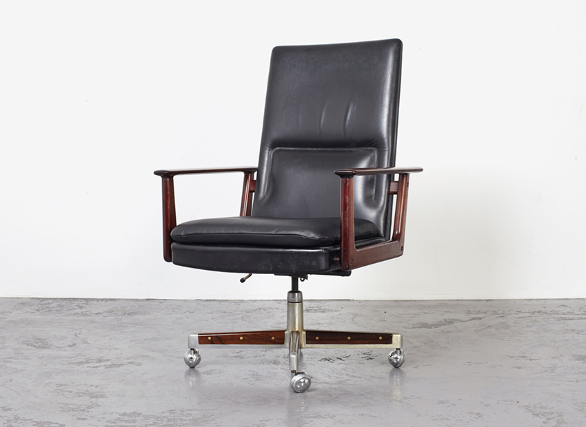 SOLD Arne Vodder Executive Desk Chair Sibast 1960s