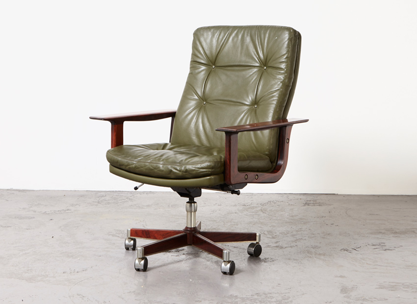 Arne Vodder Executive Desk Chair Sibast Denmark 1960s