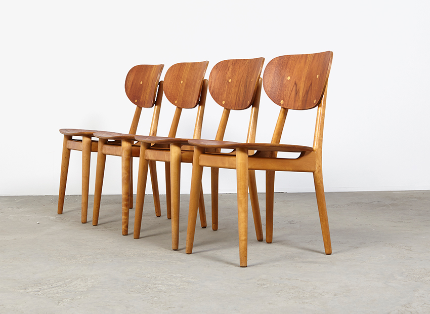 SOLD Cees Braakman Set of 4  SB13 Dining Chairs Pastoe 1950s