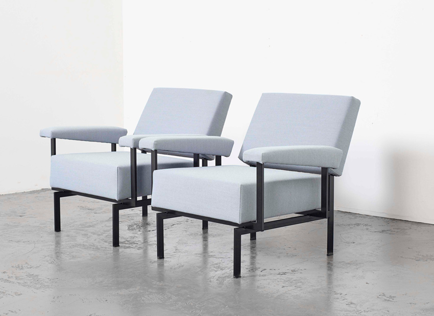 SOLD Cees Braakman Pair of FM07 Lounge Chairs Pastoe 1958