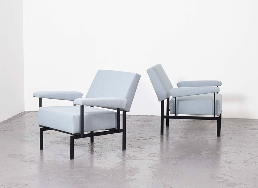 Cees Braakman Set of 2 FM07 Easy Chairs Pastoe 1958