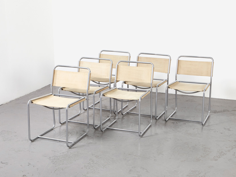 SOLD Claire Bataille & Paul Ibens Set of 6 Dining Chairs SE18 't Spectrum 1971