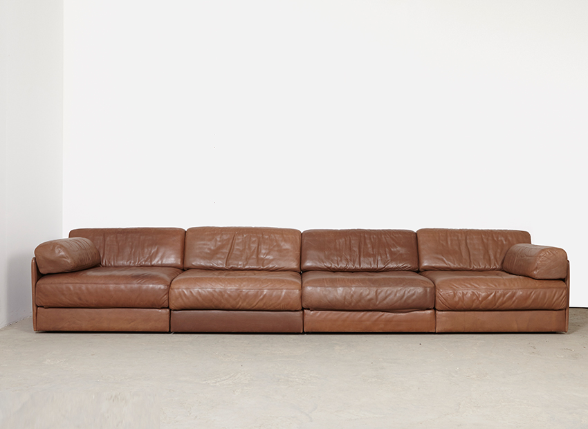 studio 1 de sede ds 76 leather sofa 1970s. Black Bedroom Furniture Sets. Home Design Ideas