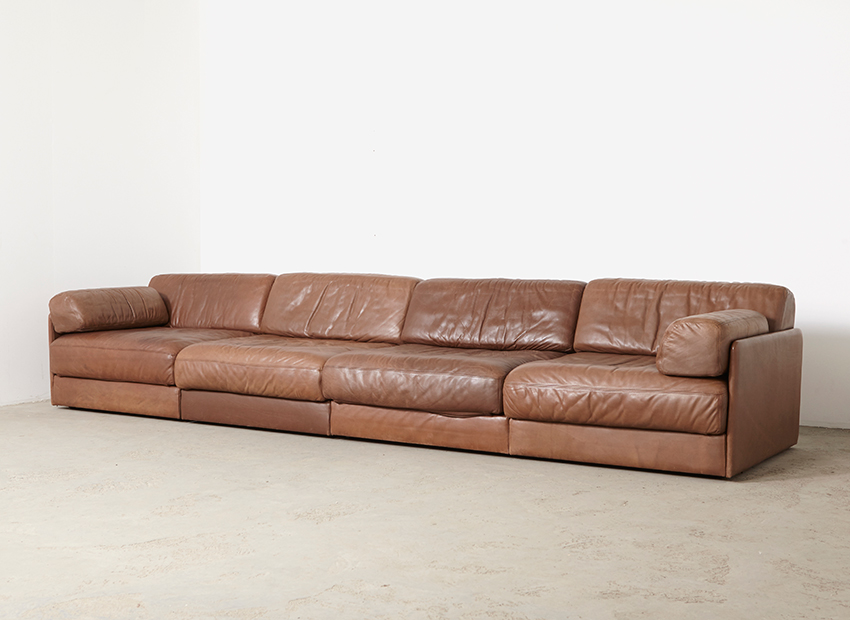 De Sede DS-76 Leather Sofa 1970s