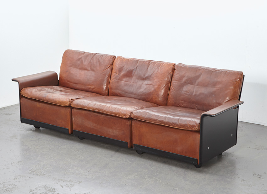 Dieter Rams 3-Seater Leather Sofa 620 Vitsoe 1962