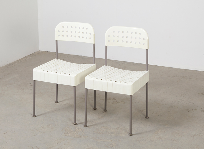 SOLD Enzo Mari Set of 2 Box Chairs Anonima Castelli 1971
