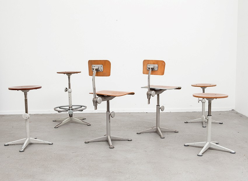 Friso Kramer Working Chairs Stools De Cirkel 60s 4