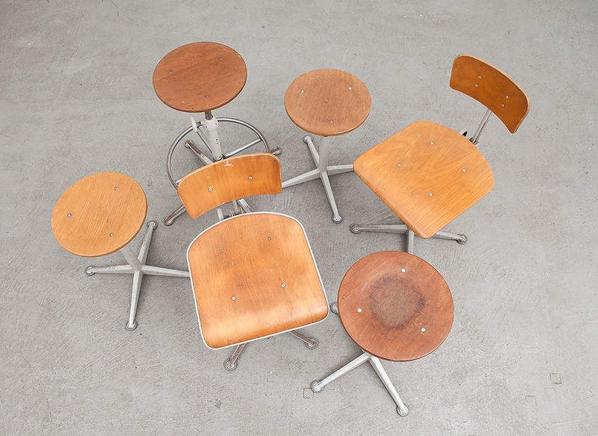 Friso Kramer Working Chairs Stools De Cirkel 60s 7