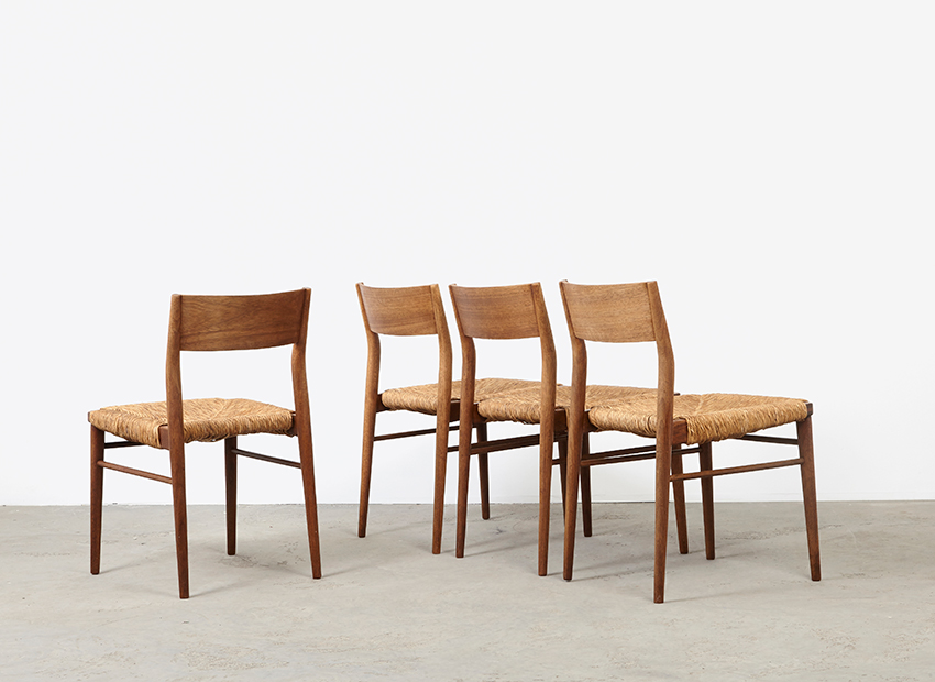 SOLD Georg Leowald Set of 4 Teak Dining Chairs Wilkhahn 1955