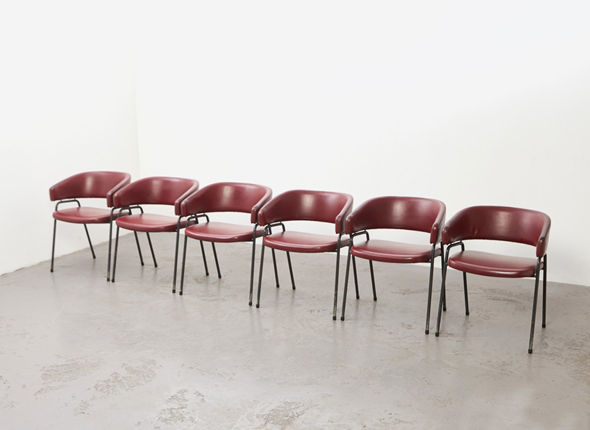 SOLD Hein Salomonson & Theo Tempelman Set of 6 Dining Chairs AP Originals 1960