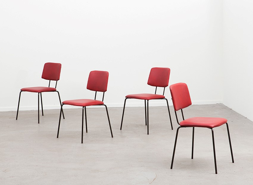SOLD Hein Salomonson 4 X Chairs AP Originals 50s