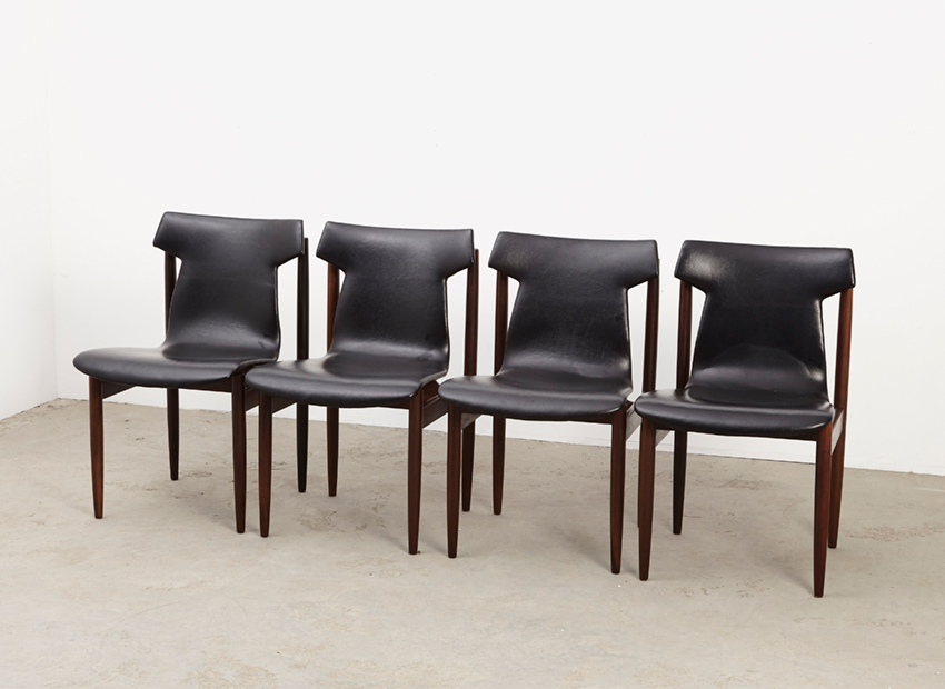 SOLD Inger Klingenberg Set of 4 IK Dining Chairs Fristho 1960