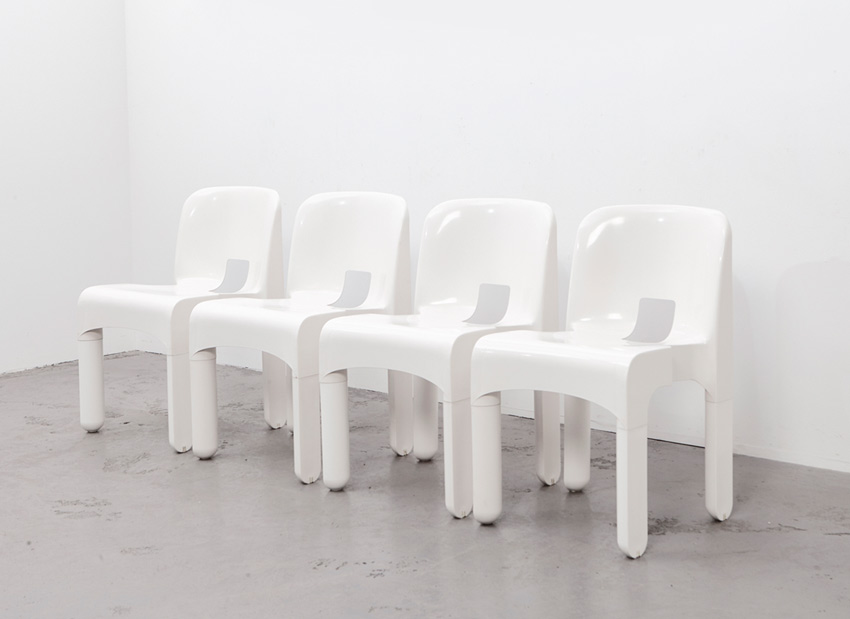 SOLD Joe Colombo Set of 4 Universale Chairs 4867 Kartell 1965