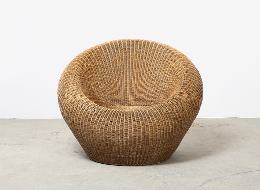 SOLD Isamu Kenmochi Rattan Lounge Chair Yamakawa Japan 1960