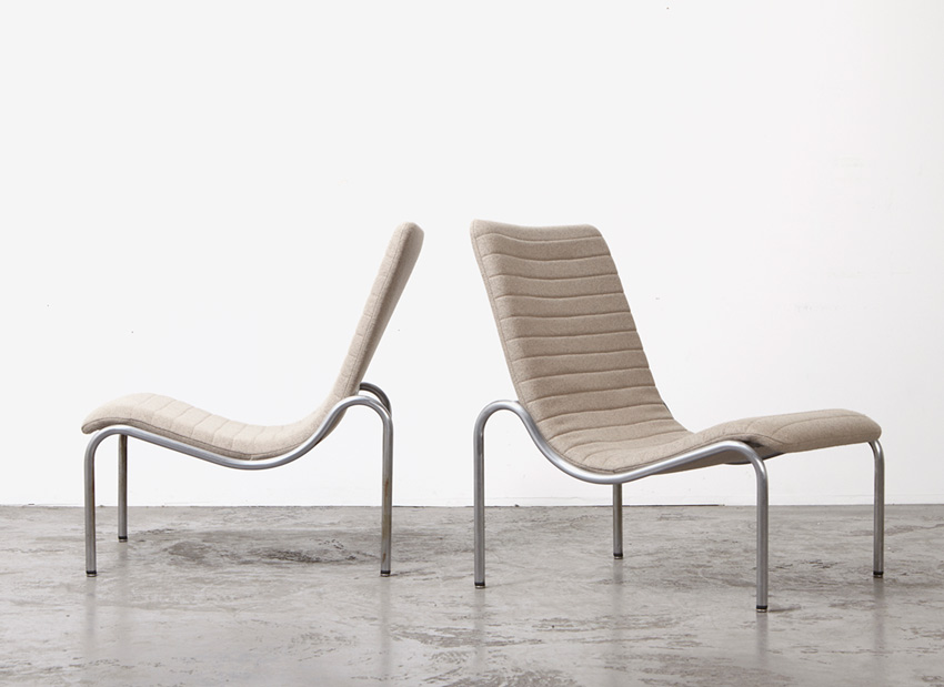 SOLD Kho Liang Ie Pair of Lounge Chairs Stabin 1960s