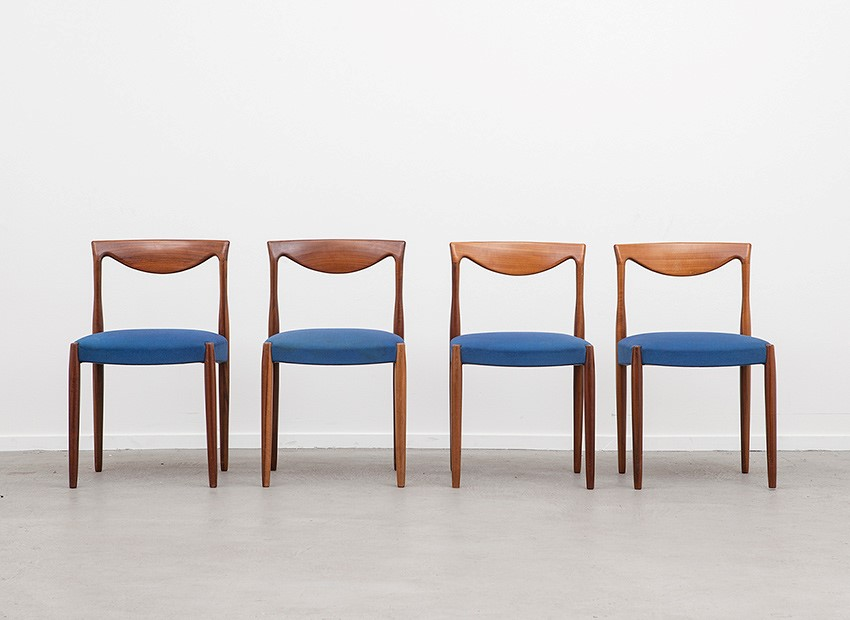 Lubke 4 X Teak Chairs 60s 1
