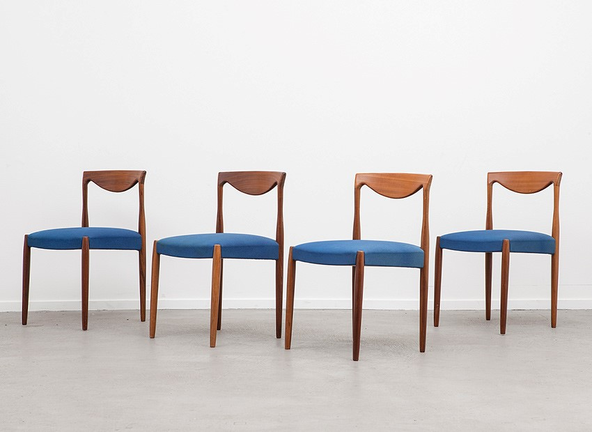 Lubke 4 X Teak Chairs 60s   2